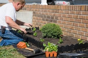 flower beds for proper drainage - Big Easy Landscaping