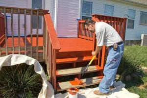 outdoor deck painting - Big Easy Landscaping