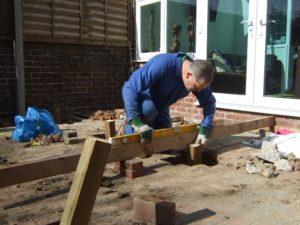 deck foundation - Big Easy Landscaping