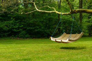 Swinging Chair at the Backyard