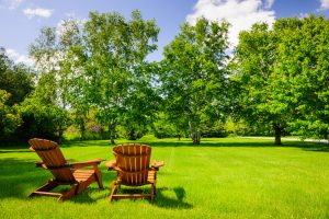 wooden chairs - Backyard